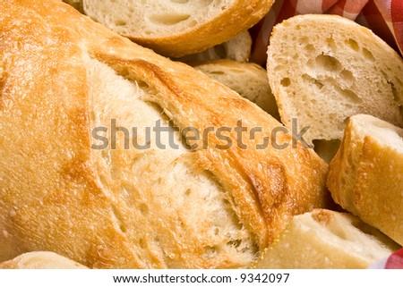 freshly baked golden bread ready for some butter - stock photo