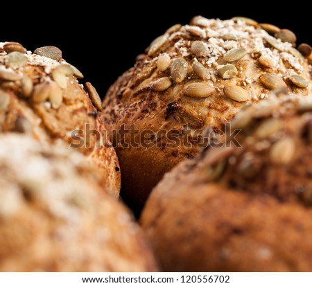 Freshly Baked Whole Grain Bread Rolls