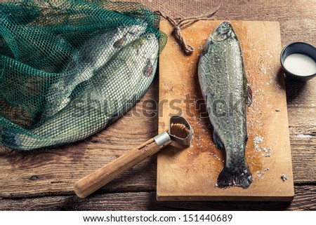 Freshly caught fish for dinner