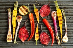 Freshly grilled vegetables
