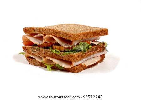 freshly made sandwich with meat