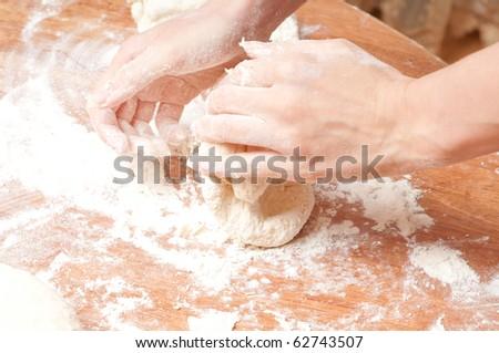 Freshly prepared bread dough