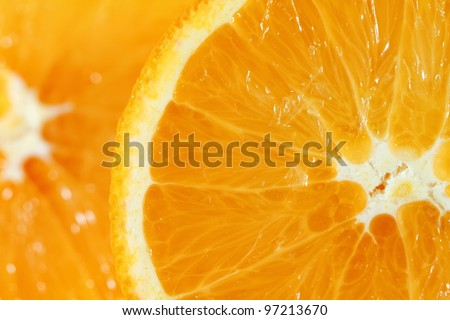 Freshly sliced orange
