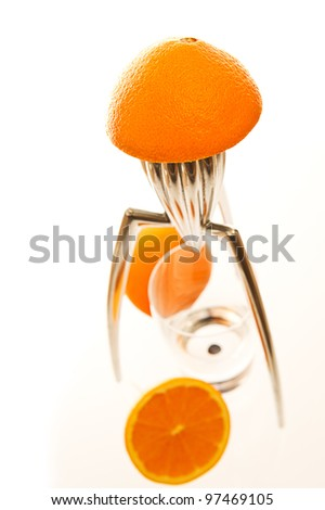 Freshly squeezed orange. Healthy drink