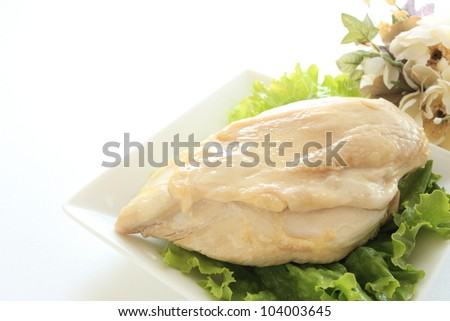 freshness chicken breast with flower