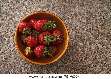 Freshness of summer strawberry