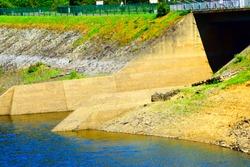 freshwater reservoir lake of flooded Rur valley