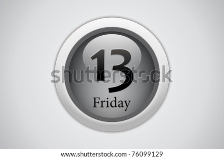 Friday 13 Black button