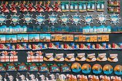Fridge Magnets Souvenirs At Street Market. Funny Souvenir From Batumi, Adjara, Georgia