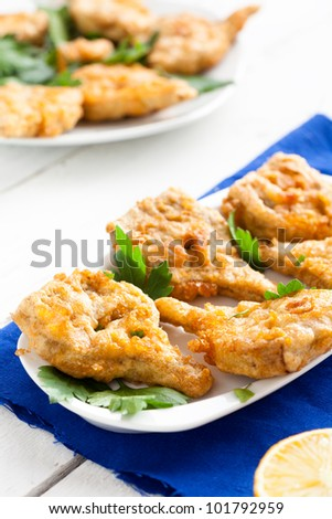 Fried Artichokes Hearts with Parsley and Lemon