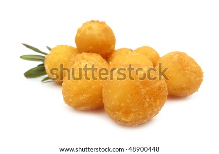 Fried balls with lavender