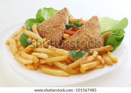 Fried cheese and french fries