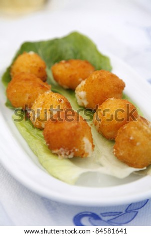Fried cheese balls - stock photo