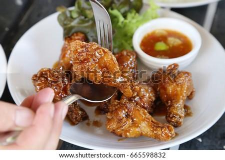 Fried chicken broth #665598832