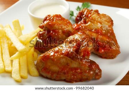 Fried Chicken,Fries potato