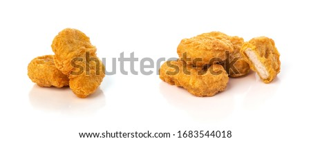 Fried chicken nuggets isolated on white background Сток-фото ©