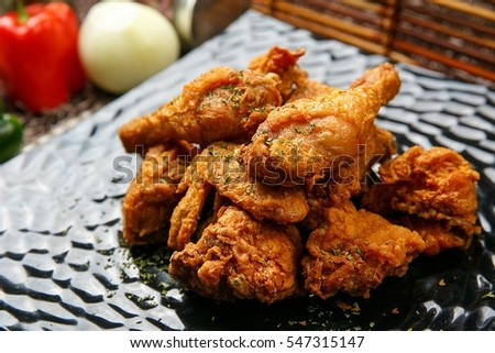 Fried Chicken on plate #547315147