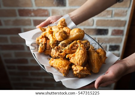 Fried Chicken on plate #547315225