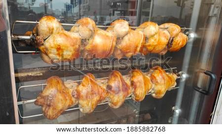 Fried chickens closeup on street Stok fotoğraf ©