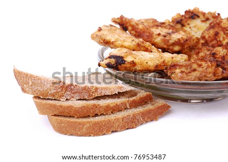 fried chops with bread