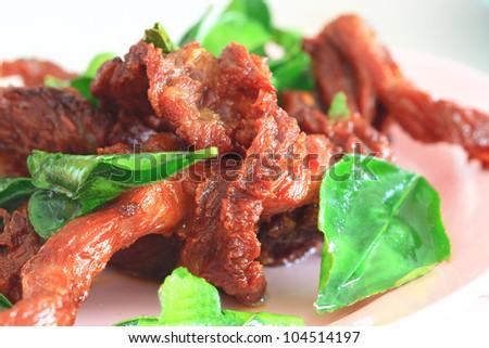 Fried dried beef