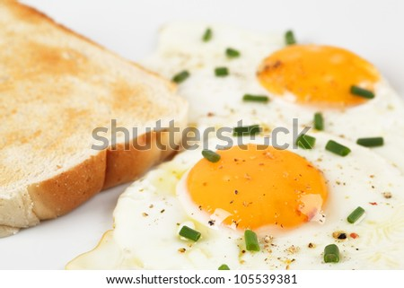 fried egg and bread