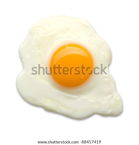 fried egg isolated Stock foto ©