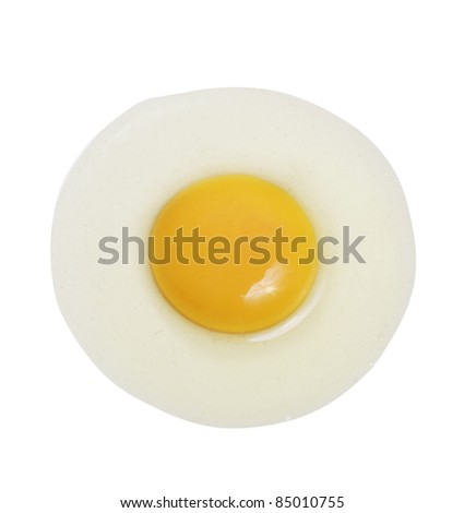 fried egg on a white background