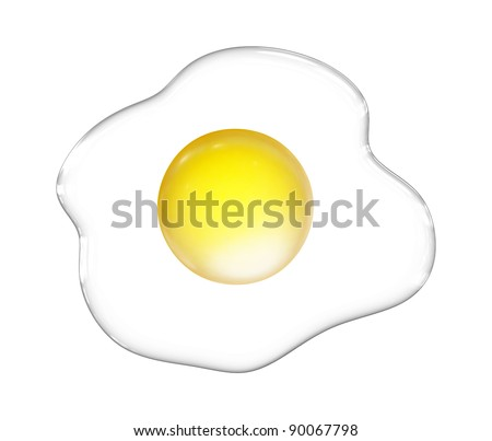 Fried eggs isolated - vector illustration
