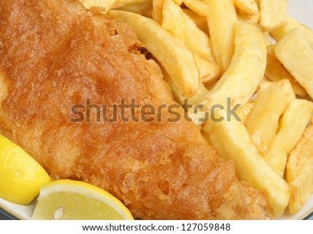 Fried fish and chips/