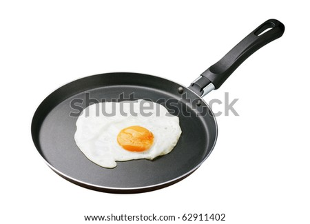 fried in a pan with a white background