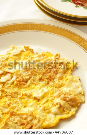 Fried matzo (omelette style) for Passover