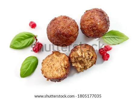 fried meatless plant based balls isolated on white background Stock photo ©
