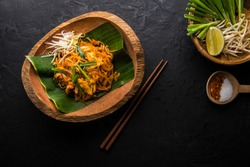 Fried noodle Thai style, Stir-fried rice noodles (Pad Thai)