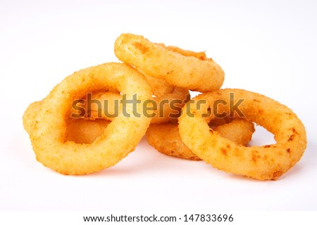Fried onion rings. Fast food