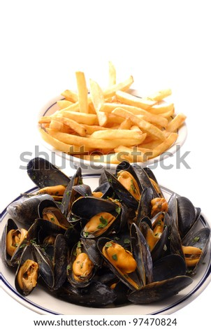 fried plates of mussels
