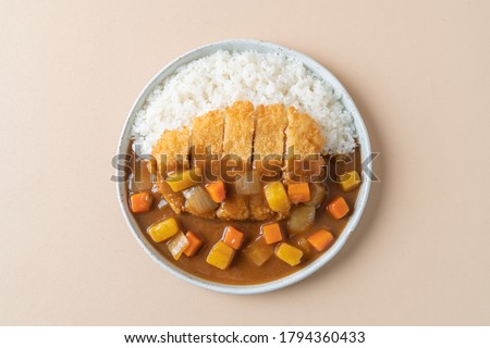 fried pork cutlet curry with rice - Japanese food style ストックフォト ©