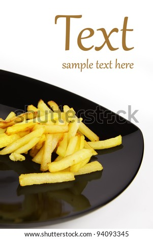 fried potatoes, spices and ingredients  (With sample text)