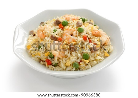 fried rice, chinese cuisine, yangzhou style