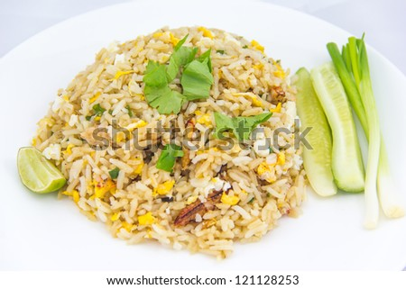 fried rice with crab is a favorite thai food