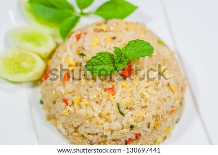 Fried rice with crab ,Thai cuisine