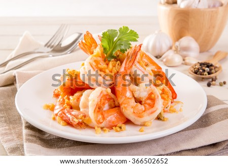 Shutterstock Fried Shrimp with garlic pepper