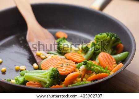 fried vegetables #405902707