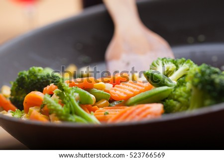Stock Photo fried vegetables