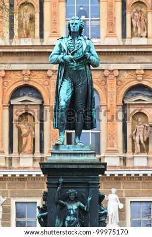 Friedrich Schiller Statue in Vienna, Austria
