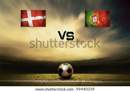 Friendly soccer match between Denmark and Portugal