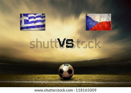 Friendly soccer match between Greece and Czech #118165009