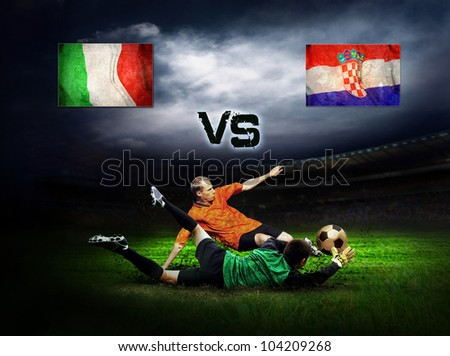 Friendly soccer match between Italy and Croatia