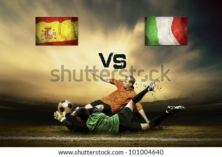 Friendly soccer match between Spain and Italy