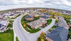 Friendly subdivision neighborhood Aerial